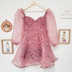 NWT miss ore Princesscore Puff Sleeve Dress
